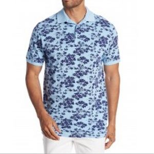 7 Diamonds Lucas Blue Floral Polo Shirt